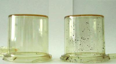 black specks in injection moldings
